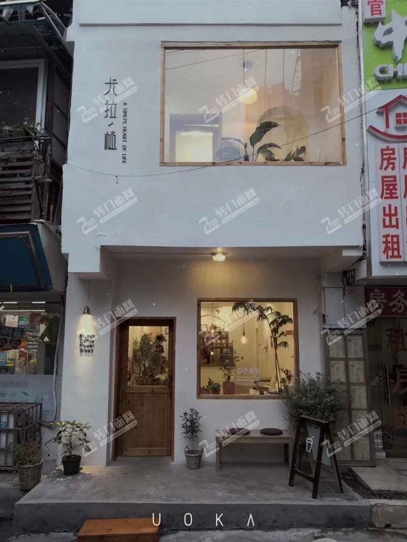 诚心转租或招合伙中山亭150㎡清新风格咖啡馆旺铺